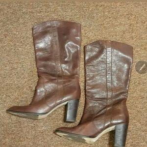 KORS Michael Kors Leather Boots Size 9.5